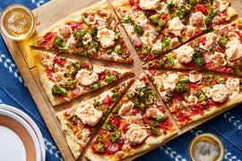 Broccoli & Mozzarella Pizza with Calabrian Chile Ricotta
