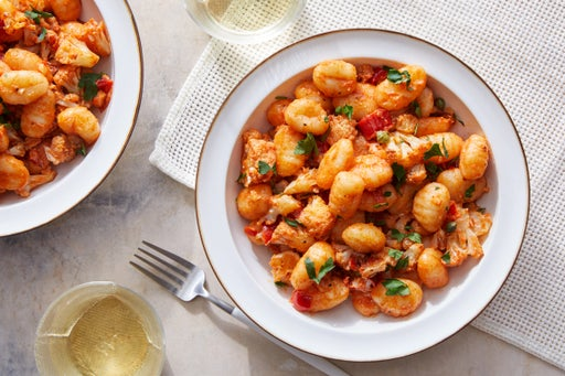 Spicy Tomato Gnocchi with Roasted Cauliflower