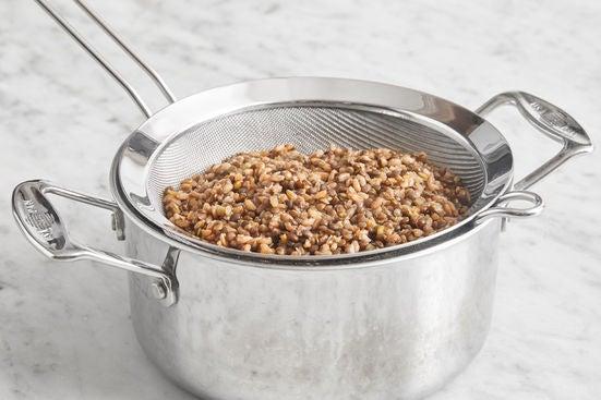 Cook the lentils & farro: