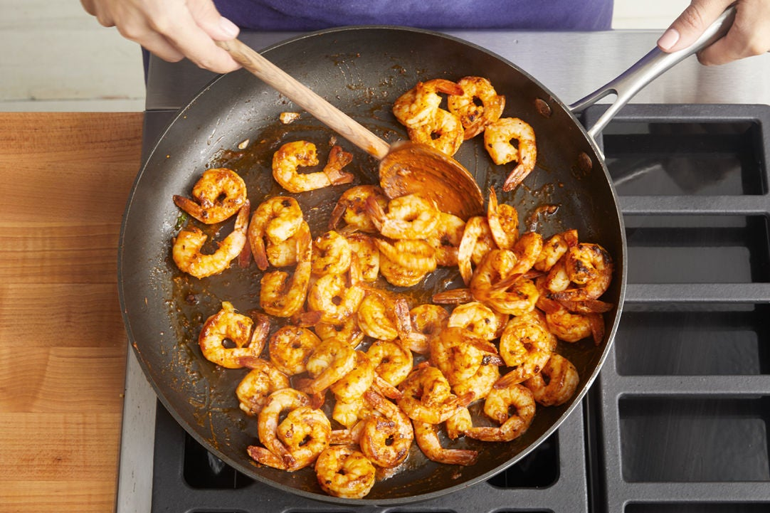 Cook the shrimp: