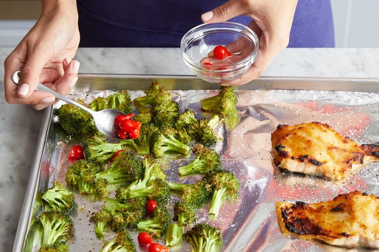 Finish the broccoli & serve your dish: