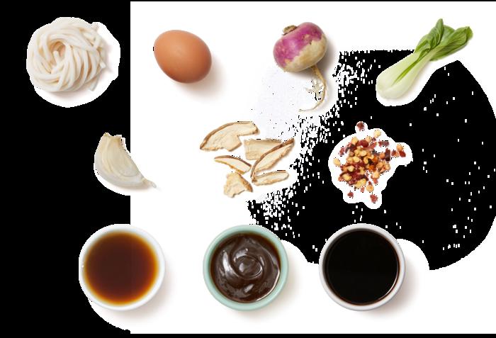 Udon Noodles & Soft-Boiled Eggs in Shiitake Mushroom Broth