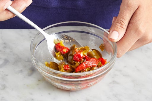 Make the pepper topping & serve your dish: