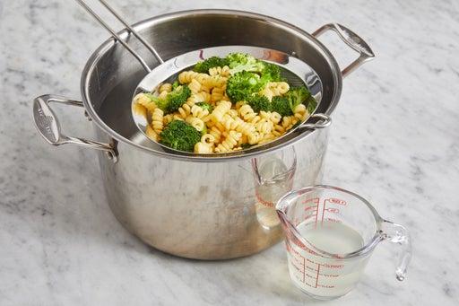 Cook the pasta & broccoli: