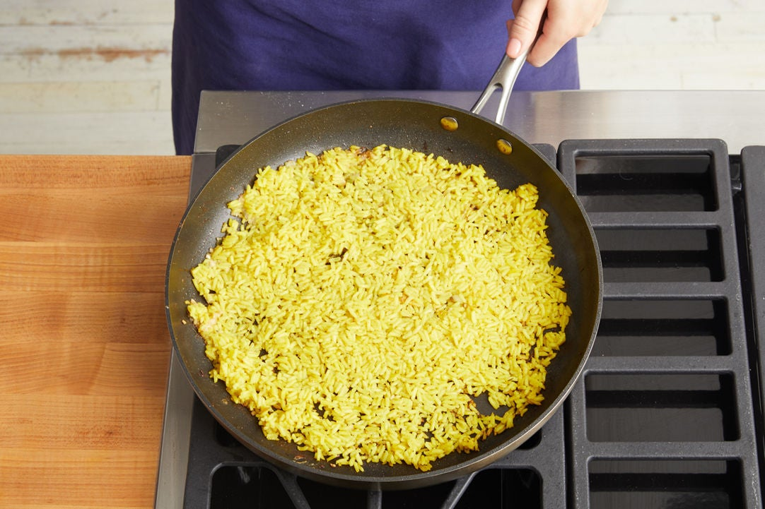 Make the fried rice & serve your dish: