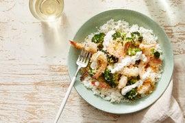 Lemon & Oregano Baked Shrimp with Roasted Broccoli