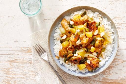 Orange Chicken Stir-Fry with Jasmine Rice