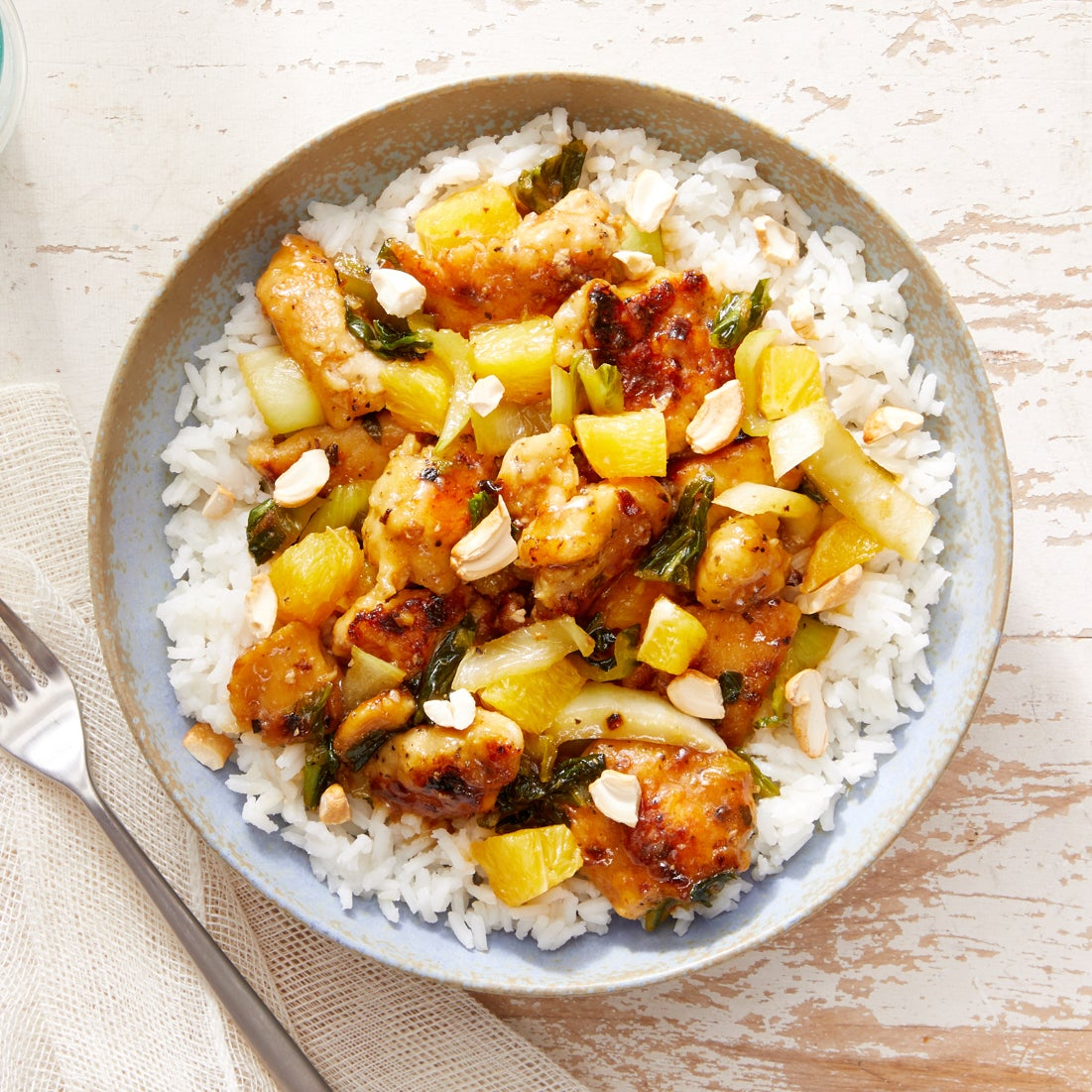 Orange Chicken Stir-Fry with Jasmine Rice