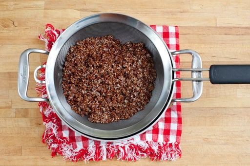 Cook the red quinoa: