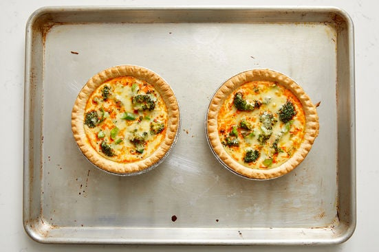 Bake the quiches & serve your dish: