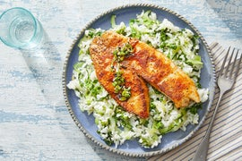 Honey-Lime Tilapia with Bok Choy & Jasmine Rice