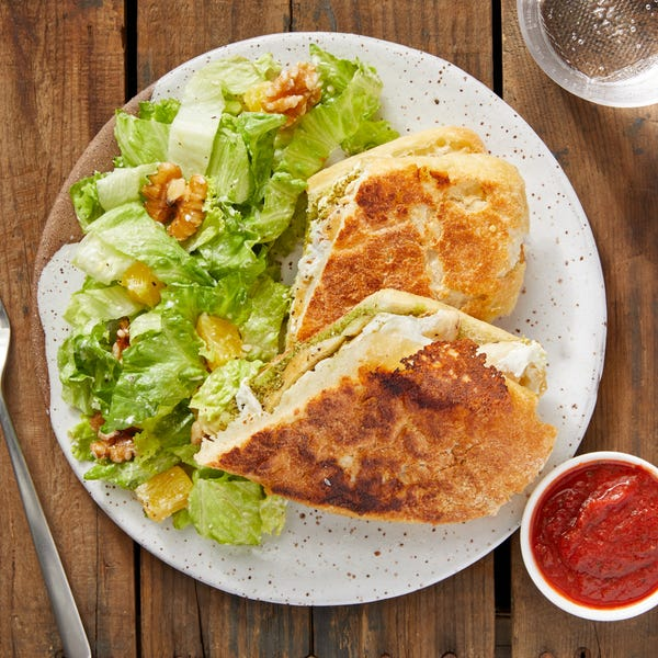 Pesto Chicken Paninis with Orange & Walnut Salad