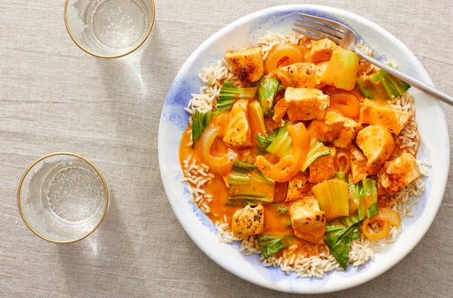 Chicken & Coconut Curry over Brown Rice