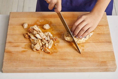 Cook & chop the chicken:
