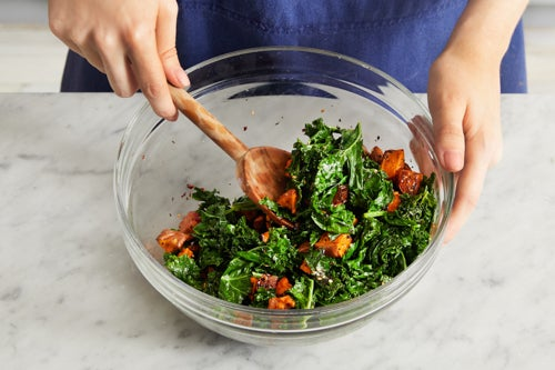Finish the vegetables & serve your dish: