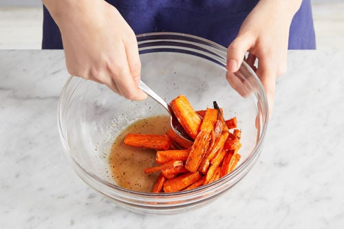 Glaze the carrots & serve your dish: