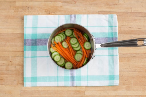 Pickle the carrot & cucumber: