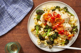 Italian-Style Chicken & Peppers with Ditali Pasta & Broccoli
