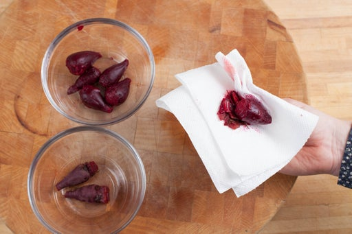 Make the beet salad: