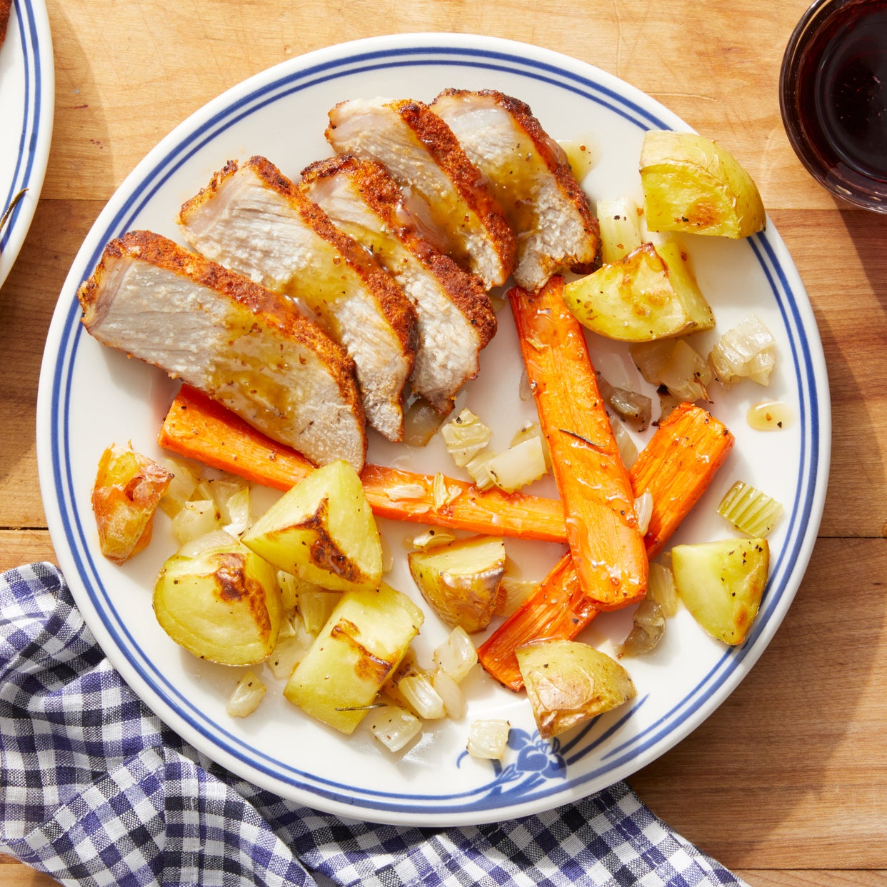 b3fd78330139 Recipe  Sheet Pan Roasted Pork with Fall Vegetables   Maple Mustard ...
