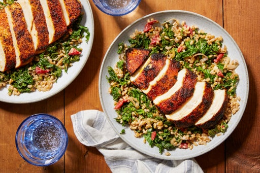 Cajun-Spiced Chicken with Warm Grain Salad