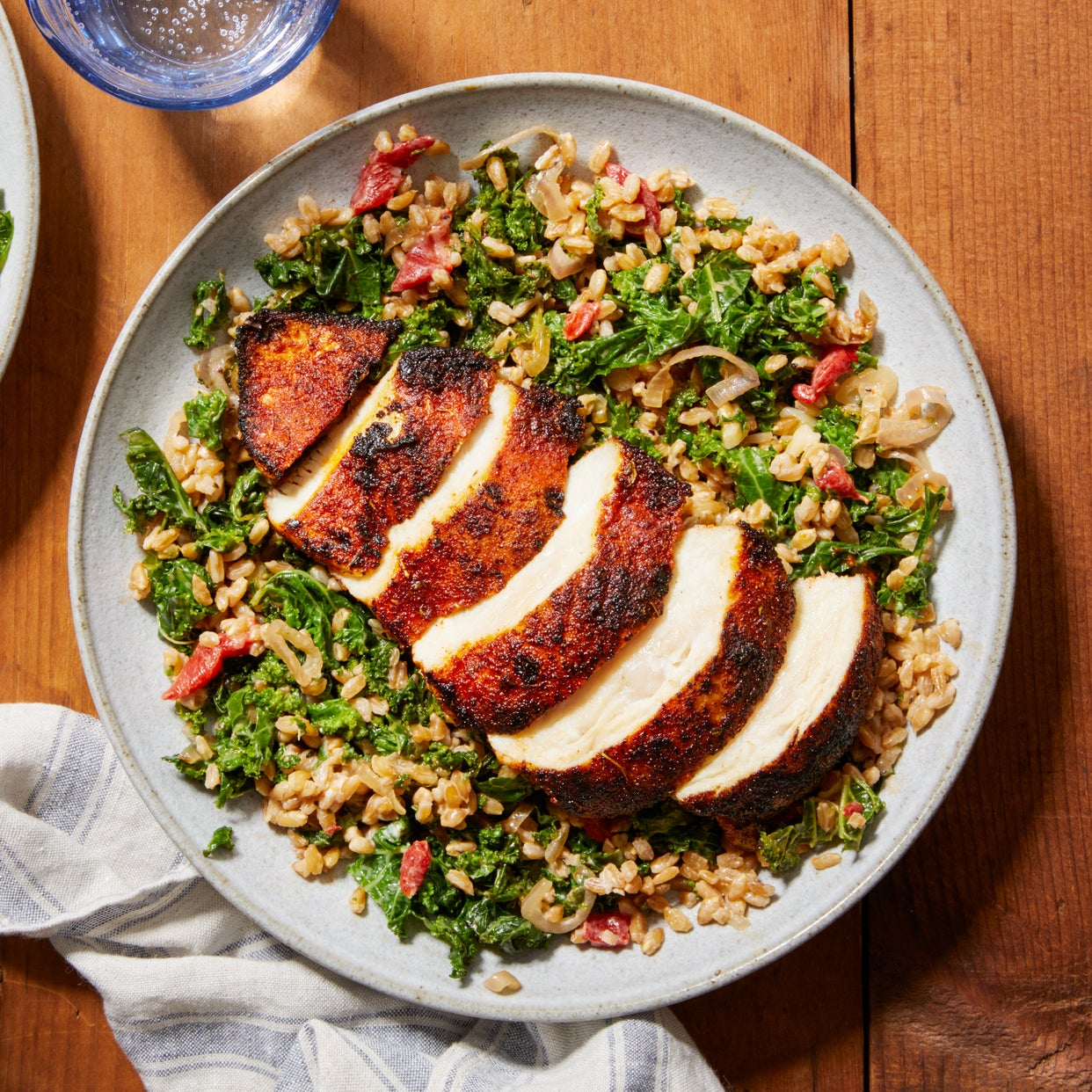 Cajun-Spiced Chicken with Warm Grain Salad