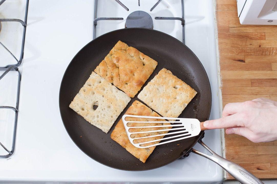 Toast the focaccia: