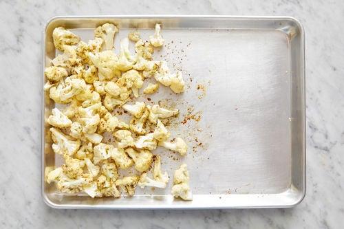 Prepare & start the cauliflower: