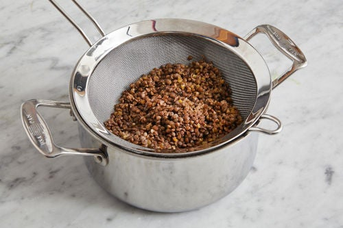 Cook the lentils: