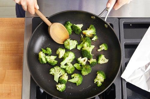Cook the broccoli: