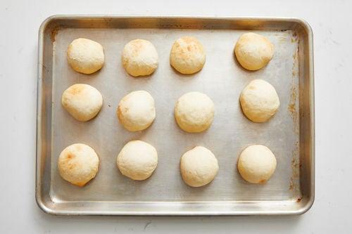 Prepare & bake the garlic rolls: