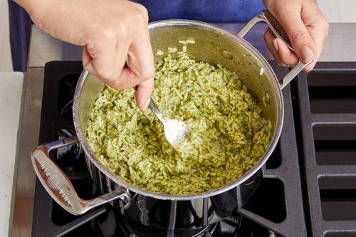 Make the cilantro rice: