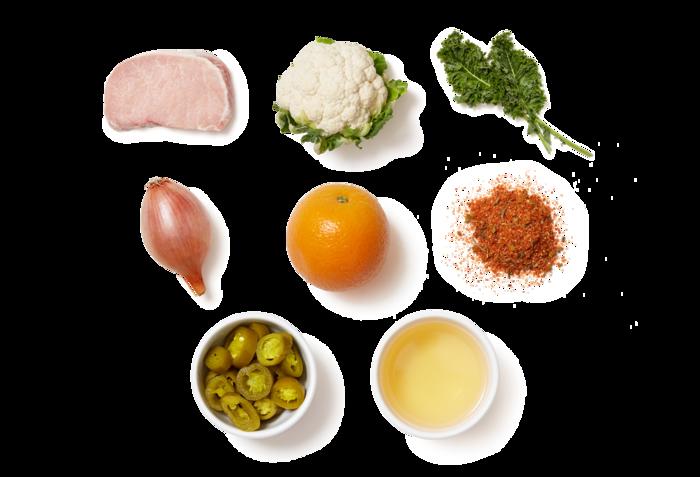 Cajun-Spiced Pork Chops with Jalapeño-Orange Salsa & Kale Salad