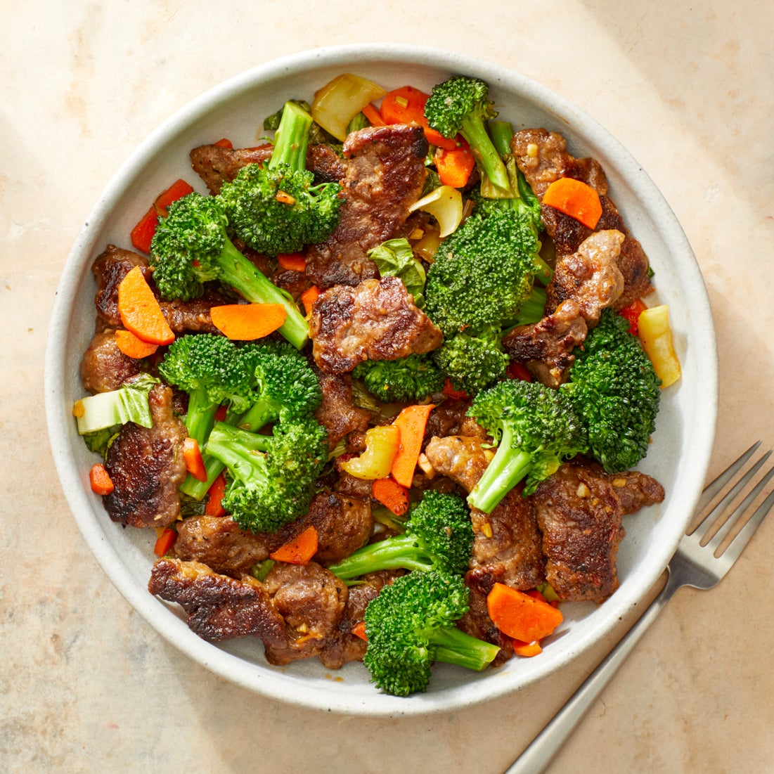 Beef & Vegetable Stir-Fry with Sesame-Sambal Sauce