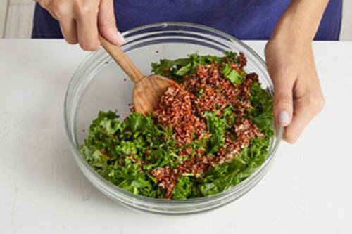Finish the kale & serve your dish: