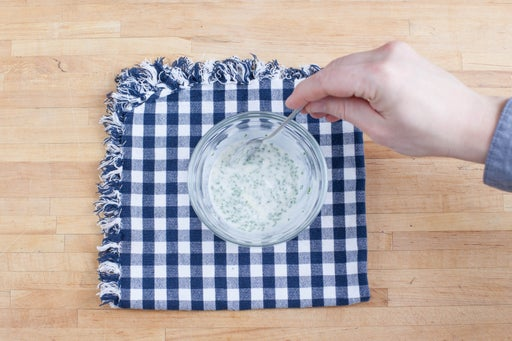 Make the chive-sour cream:
