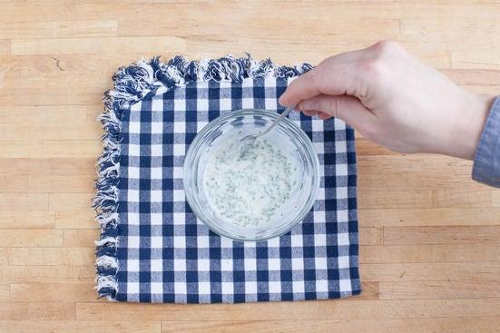 Make the chive-sour cream: