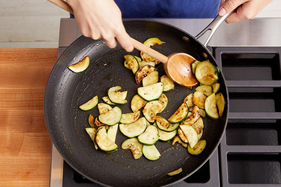 Brown the zucchini: