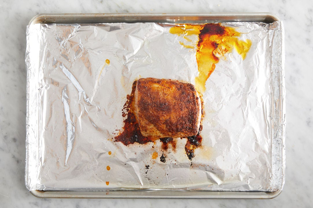 Roast the pork: