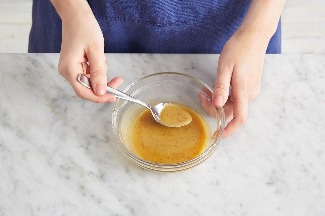 Make the maple-mustard sauce: