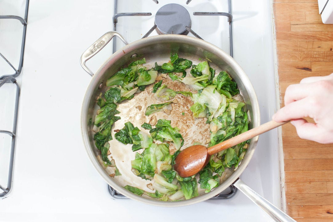 Cook the escarole:
