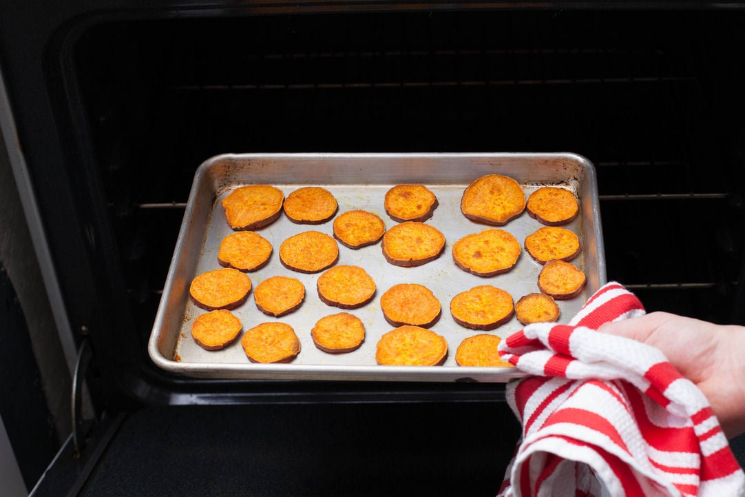 Bake the sweet potatoes: