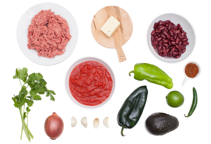 3-Chile Beef Chili with Red Kidney Beans & Pepper Jack Cheese ingredients