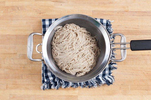 Cook the noodles & make the sauce: