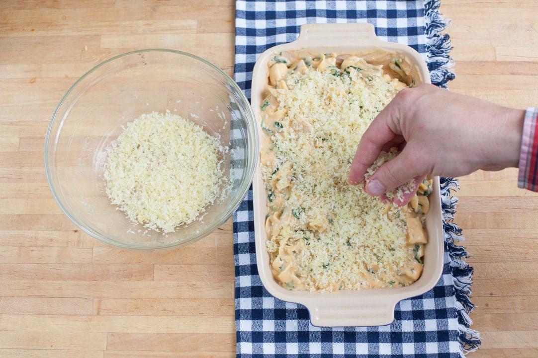 Bake the casserole: