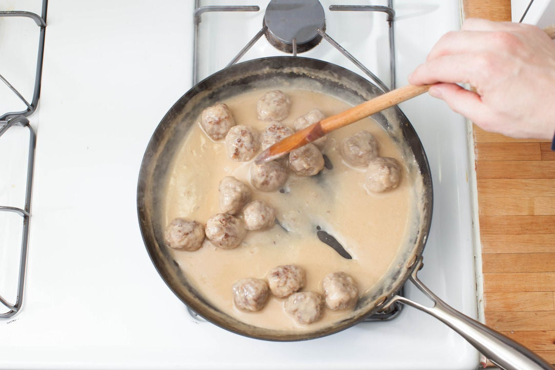 Finish the meatballs and make the sauce: