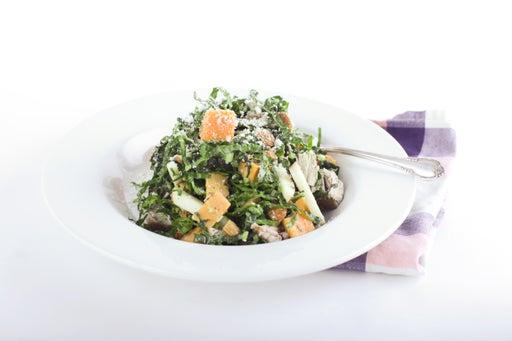 Seared Tuna with Black Tuscan Kale Salad