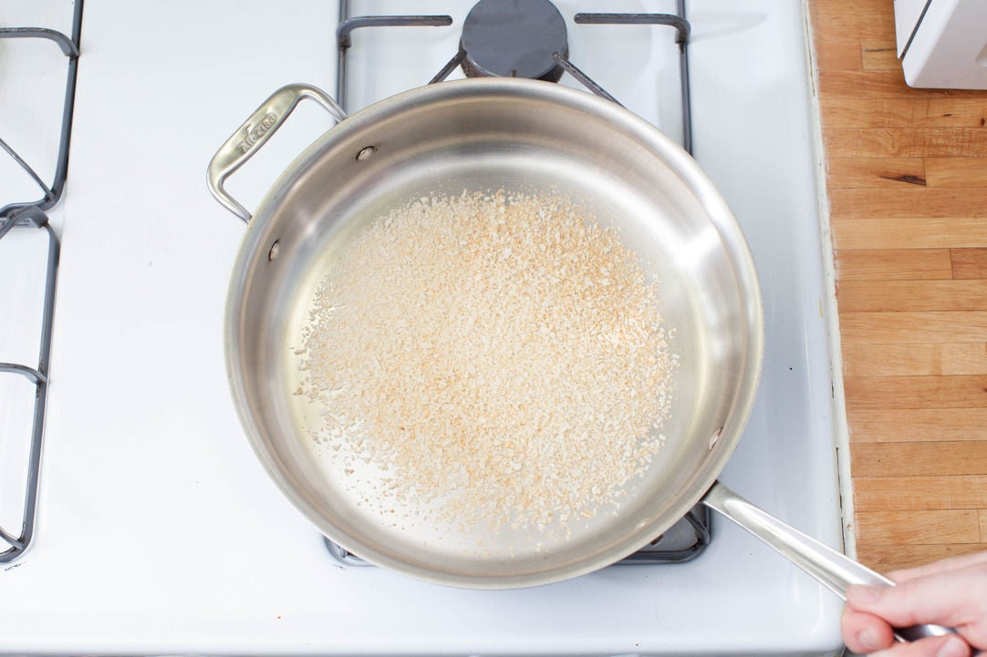 Toast the breadcrumbs: