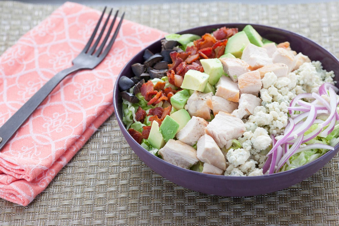 Chicken Cobb Salad with Smoky Bacon, Avocado and Blue Cheese
