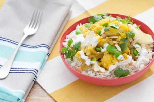 Cauliflower & Fava Bean Biryani with Basmati Rice